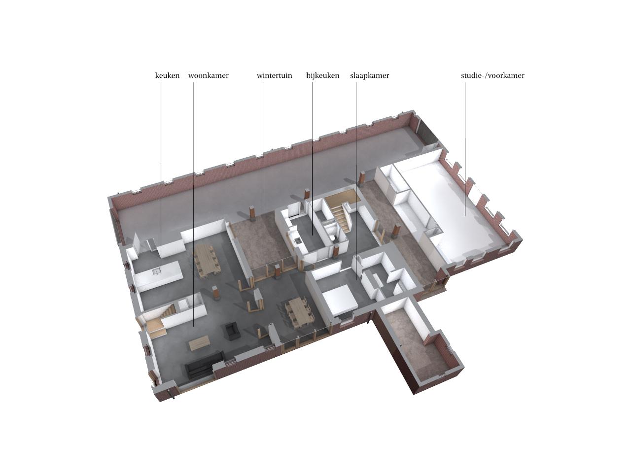 huis in deel(en) plattegrond