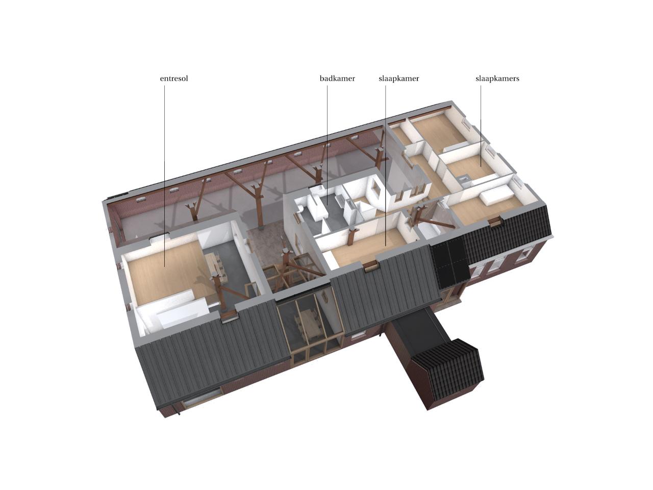 huis in deel(en) verdieping